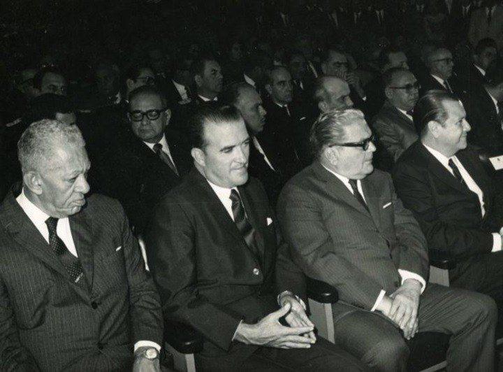 Luis Beltrán Prieto Figueroa, Miguel Ángel Burelli Rivas, Gonzalo Barrios y Rafael Caldera