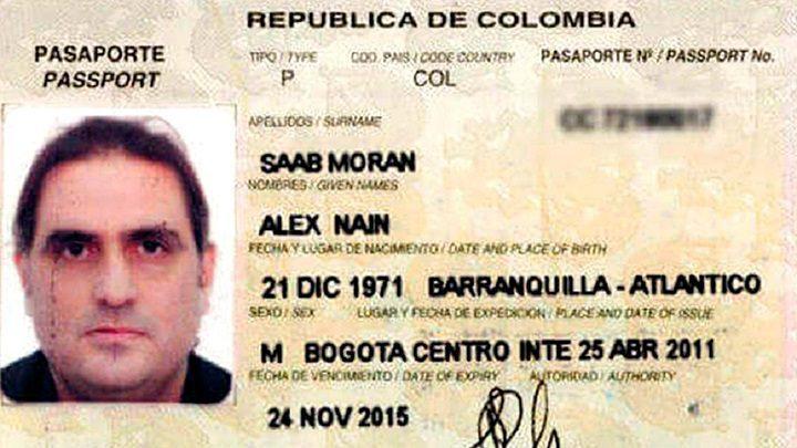 """El pasaporte colombiano de Alex Saab, quien era buscado en el mundo con """"circular azul"""" de la Policía Internacional (Interpol), hasta que fue detenido en África, el pasado 12 de junio de 2020."""