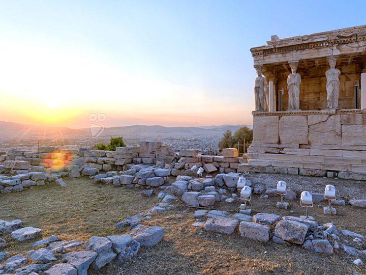 La Acrópolis en Atenas, Grecia