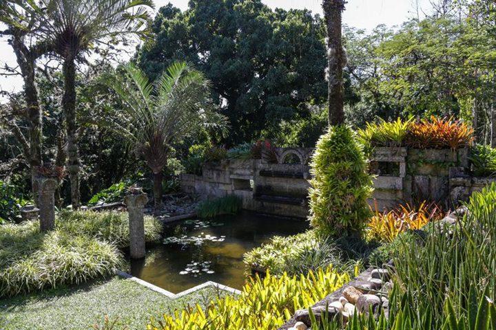 el jardín tropical Sitio Roberto Burle Marx (Brasil)